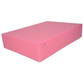 Cake/Bakery Box, 19.5x14x4 (1/2 sheet), Pink, 2-Piece