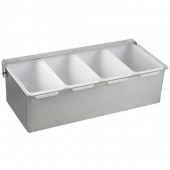 Winco - Condiment Holder, 4 Compartment with Stainless Steel Base