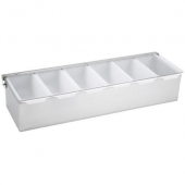 Winco - Condiment Holder, 6 Compartment with Stainless Steel Base