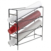 Winco - Cup Dispensing Rack, 3-Tier Wire, Fits 8-44 oz Cups