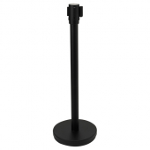 "Winco - Stanchion Post with Retractable Belt, 36"" Black Post with 6.5' Belt"