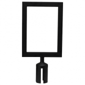Winco - Stanchion Top Sign Frame, Black