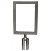 Winco - Stanchion Top Sign Frame, Stainless