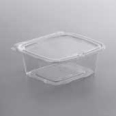 Dart - ClearPac SafeSeal Container with Flat Lid, 12 oz Clear PET Plastic, Tamper-Resistant and Tamp