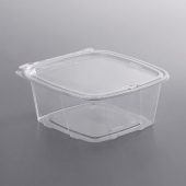 Dart - Container, 48 oz ClearPac Safe Seal with Flat Lid, 8x8x2.5