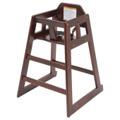 Winco - High Chair, Mahogany Wooden Finish, Unassembled