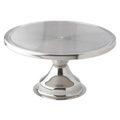 "Winco - Cake Stand, 13"" Stainless Steel"