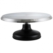 "Winco - Cake Decorating Stand, 12"" Revolving Aluminum Allow with Cast Iron Base and Silicone Bottom"
