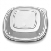 "D&W Finepack - Low Dome Lid, 7"" Clear Square"