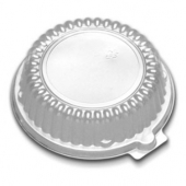 "D&W Finepack - Low Dome Lid, Clear, Fits 10 and 12 oz Rim Bowl/6"" Plate"
