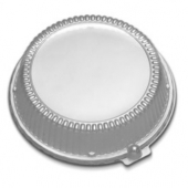 "D&W Finepack - High Dome Lid, Clear, Fits 16 and 28 oz Bowl/8"" Plate"