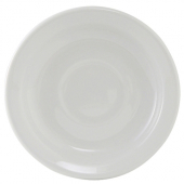 "Tuxton - Alaxka/Colorado Saucer with Narrow Rim, 5.875"" Porcelain White"
