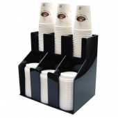Cup & Lid Organizer, 2 Tiers and 3 Slots, 13x9x12