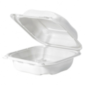 Genpak - Clover Hinged Container, Large 8.35x8.32x2.88 Stone PP Plastic