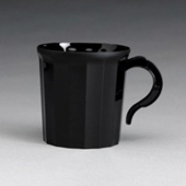 Fineline Settings - Flairware Coffee Mug, 8 oz Black Plastic