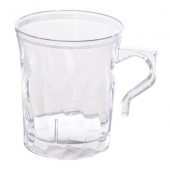 Fineline Settings - Flairware Coffee Mug, 8 oz Clear Plastic