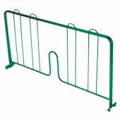 "Wire Shelf Divider, 24"" Pressure-Fit Green Epoxy Coated"
