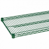 Wire Shelf, 14x48 Green Epoxy Coated with 4 Set Plastic Clip