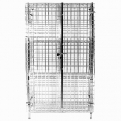 Security Cage, 24x48x63, Heavy Duty Chromate Finish