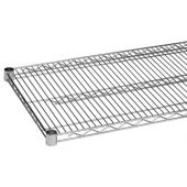 Wire Shelf, 18x48 Chrome Plated with 4 Set Plastic Clip