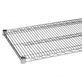 Wire Shelf, 24x48 Chrome Plated with 4 Set Plastic Clip