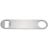 Winco - Bottle Opener, Flat Stainless Steel