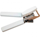 Winco - Can Opener, Hand Held with White Handles