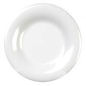 "Plate, 9.25"" White Melamine with Wide Rim"