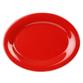 Platter, 12x9 Oval Pure Red Melamine