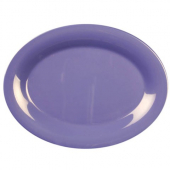 Platter, 13.5x10.5 Oval Purple/Blue Melamine