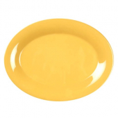 Platter, 13.5x10.5 Oval Yellow Melamine