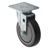 "Winco - Casters, Universal 3.5x3.5 Plate, 5"" Wheel, 2 Piece Set"