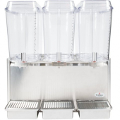 Crathco - Beverage Dispenser, Classic Bubbler Triple 5 Gallon Bowl,  Refrigerated Stainless Steel