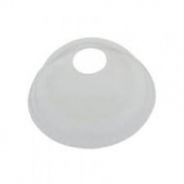 Karat - Cold Cup Dome Lid with Hole, Fits 5-8 oz Cup, Clear PET Plastic