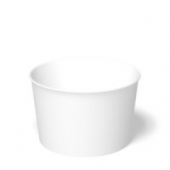 International Paper - Food Container Combo, 8 oz, White Base with White Lid