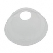 "Solo - Lid, Clear Plastic Cold Drink Lid with 1.5"" Straw Hole, Fits 16 and 24 oz"