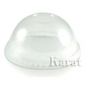 Karat - Cold Cup Dome Lid without Hole, Fits 12-24 oz, Clear PET Plastic