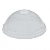 "Solo - Lid, Clear Plastic Cold Drink Lid with 1.5"" Straw Hole, Fits 9 - 20 oz"