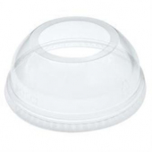 "Dart - Lid, Dome Lid with 2"" Hole, Clear PET Plastic, Fits 16-24 oz Cups"
