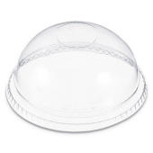 Dart - Dome Lid, Clear Plastic Cold Drink Lid without Hole, Fits 9-22 oz. Cups