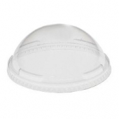 Dart - Dome Lid, Clear Plastic Cold Drink Lid without Hole, Fits 16-26 oz. Cups