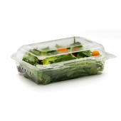 BottleBox - Food Container, 6x8 Clear Hinged PET Plastic