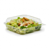 BottleBox - Food Container, 8x8 Clear Hinged PET Plastic