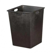 Oak Street - Trash Receptable Tote Box Liner with Hand Holes, 18x18x26 Black Plastic, 25 Gallon Capa