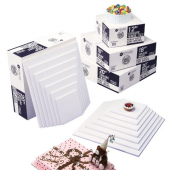 Cake Drum, Quarter Sheet White