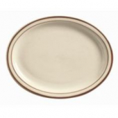 "World Tableware - Desert Sand Platter, 11.5"" Oval Cream White Stoneware"