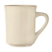 World Tableware - Desert Sand Mug, 8.5 oz Cream White Stoneware