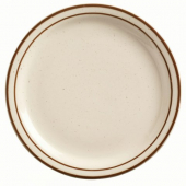 "World Tableware - Desert Sand Plate, 7.25"" Oval Cream White Stoneware"