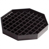 "Winco - Drip Tray, 6"" Black Plastic"