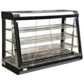 Omcan - Countertop Display Warmer with Adjustable Trays and Glass on all Sides, 47x19x32